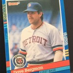 Dave Bergman Baseball Card Front I
