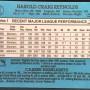 Harold Reynolds Baseball Card Back